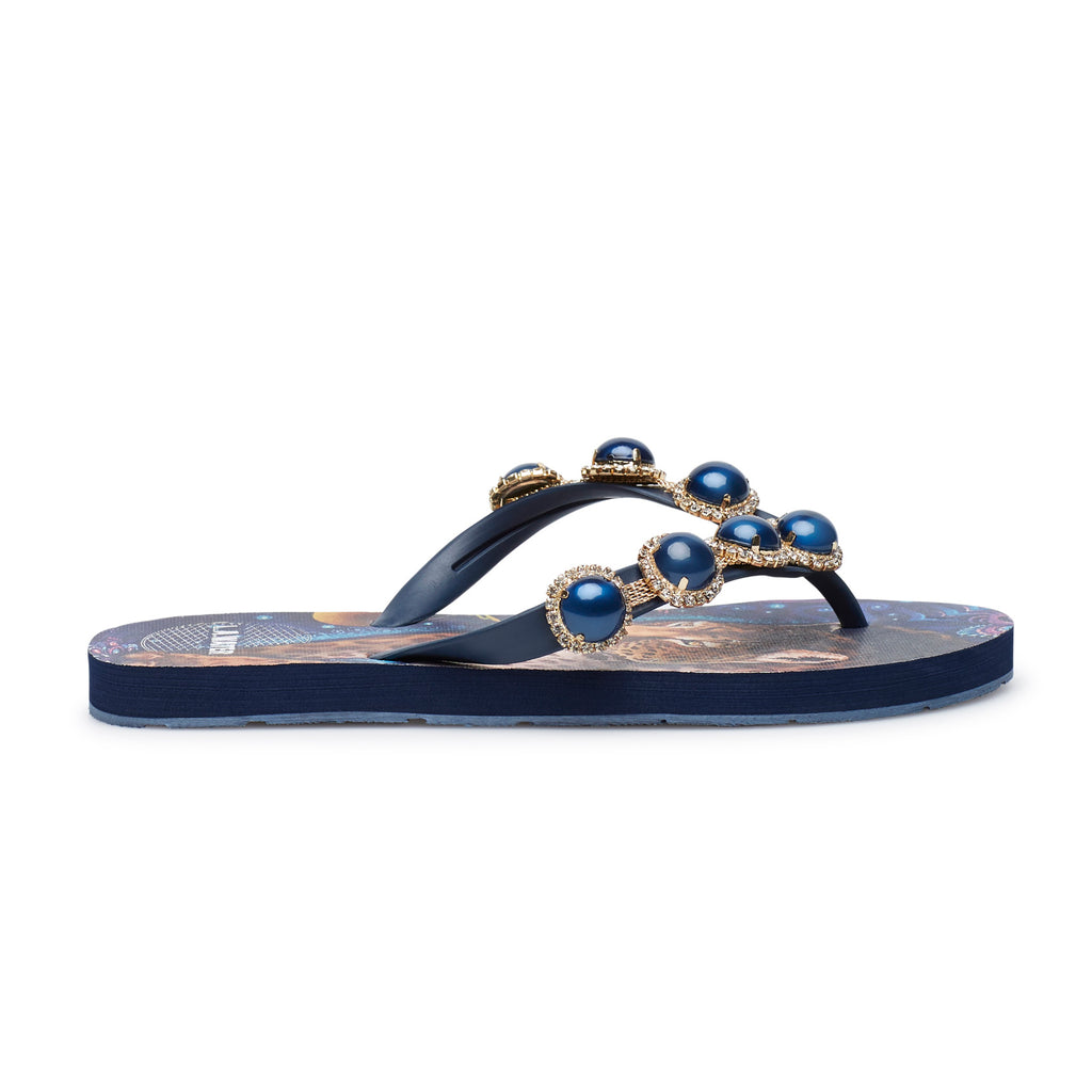 BLUE SHIPIBO SLIPPERS