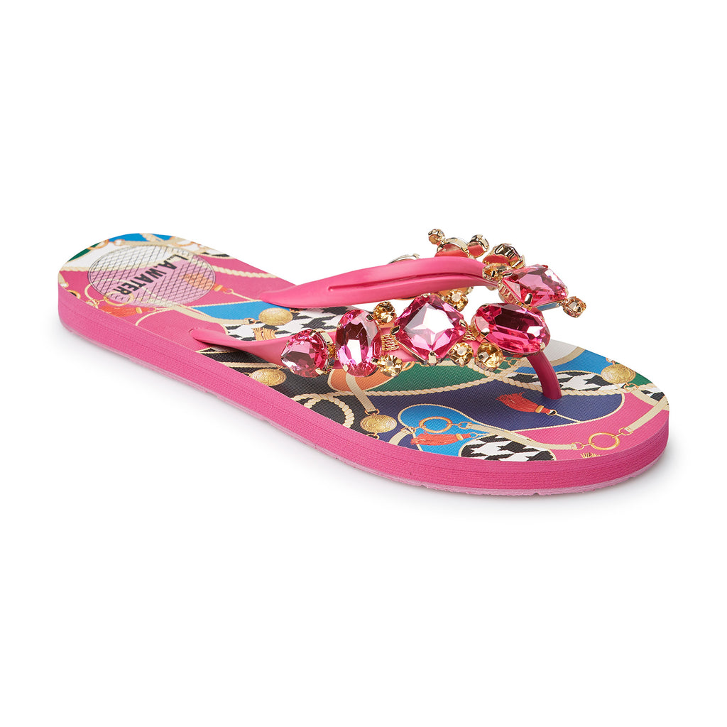 FUCHSIA NEW BAROQUE SLIPPERS