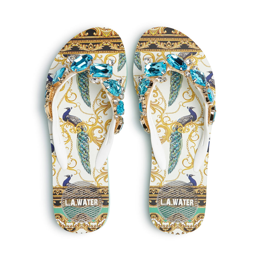 PEACOCK NEW BAROQUE SLIPPERS