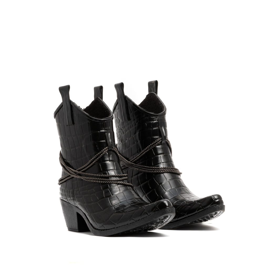 TEXAS CROC ANKLE BOOTS'N CHAINS