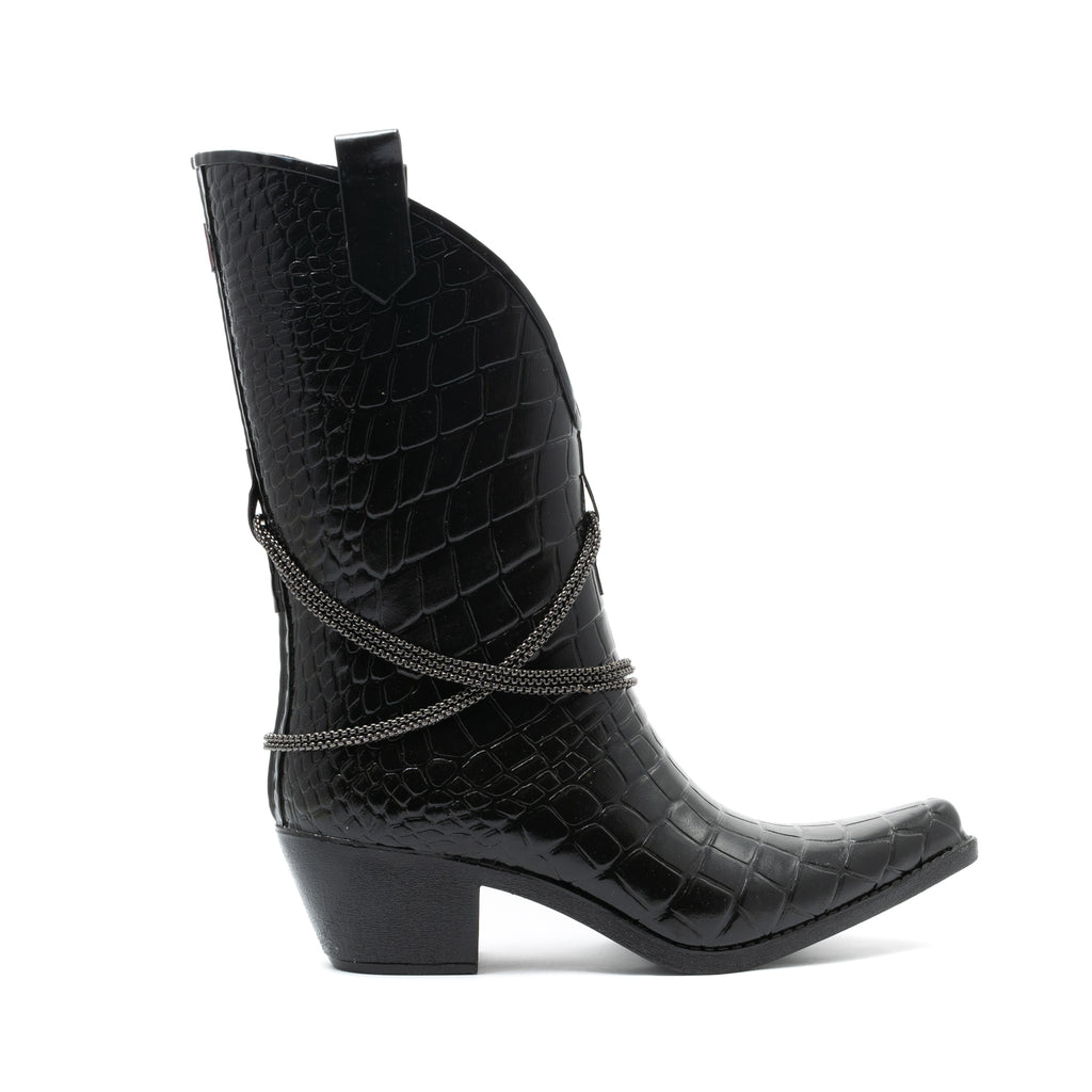 TEXAS CROC MIDI BOOTS'N CHAINS