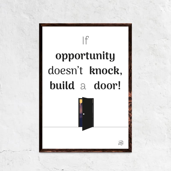 Build a door plakat ramme