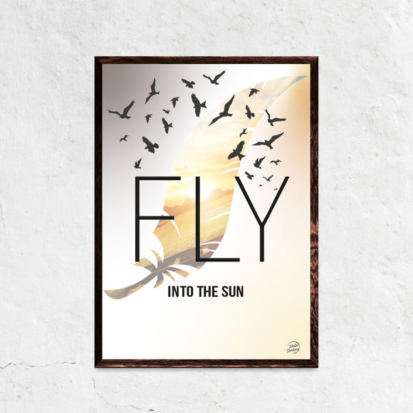 Fly into the sun plakat ramme