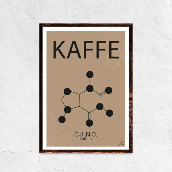 Kaffe Guilty Pleasures Plakat - hellederborg