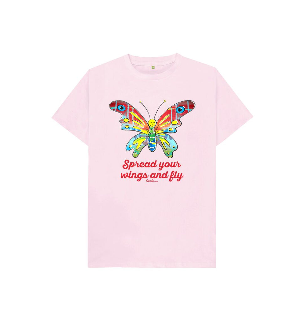 Pink Spread your Wings and Fly pink T-shirt