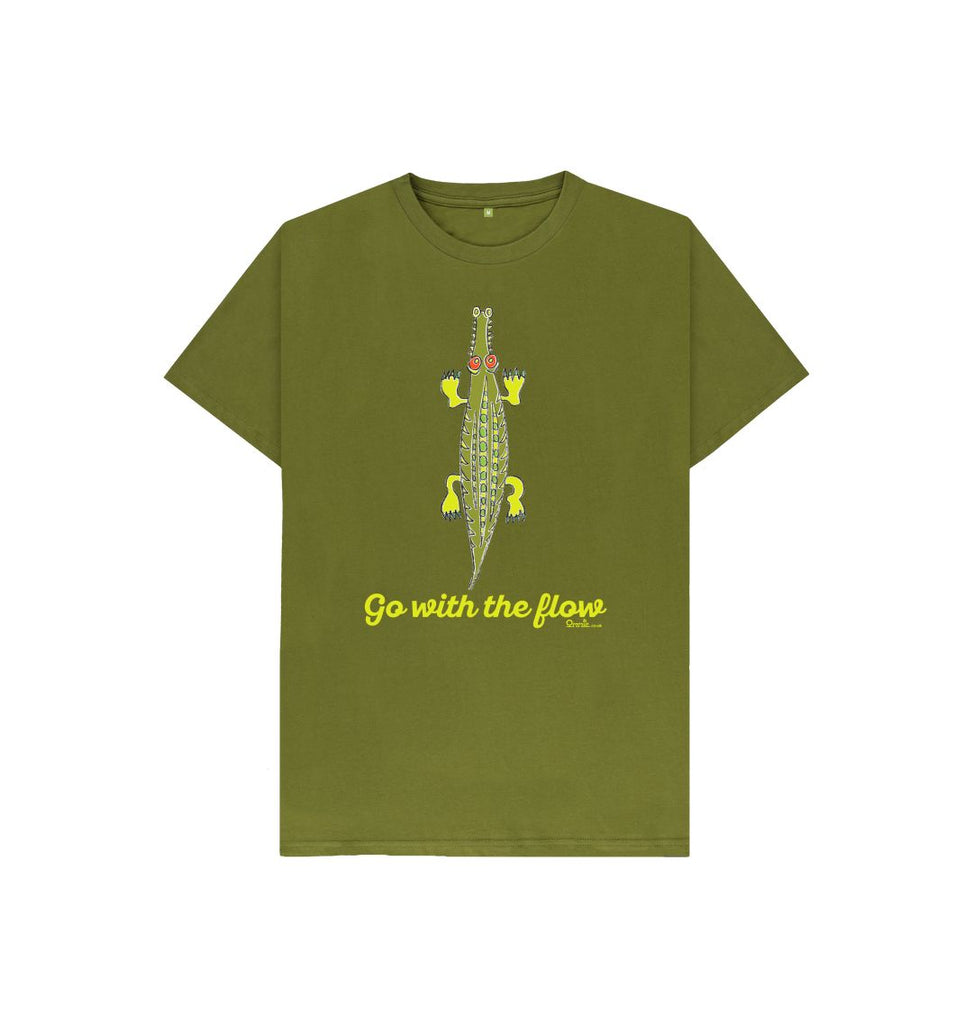 Moss Green Go with the Flow green T-shirt