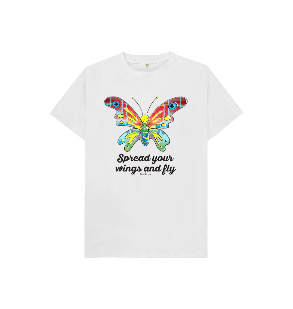 White Spread Your Wings And Fly Butterfly t-shirt
