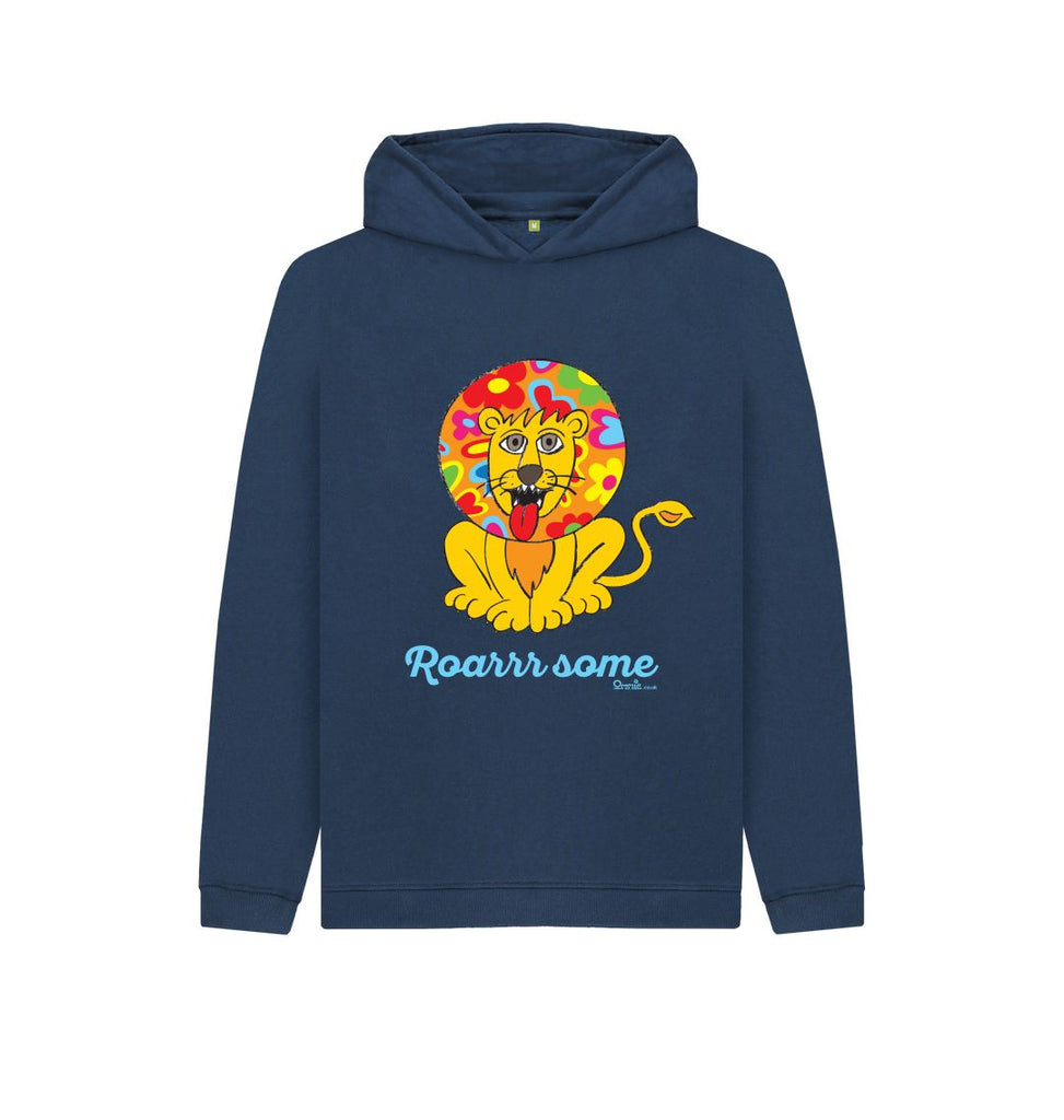 Navy Blue Roarrrr some Kids Pullover Hoody