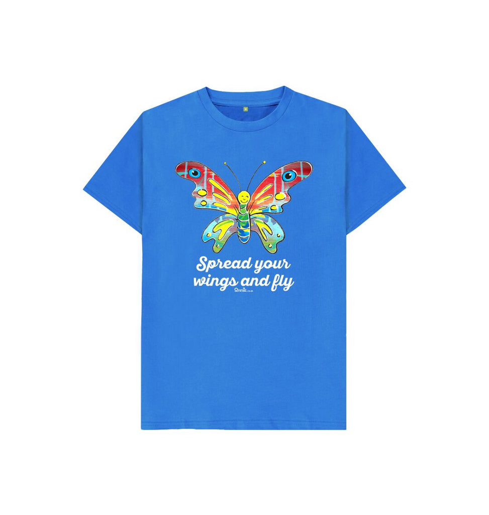Bright Blue Spread your Wings and Fly T-shirt