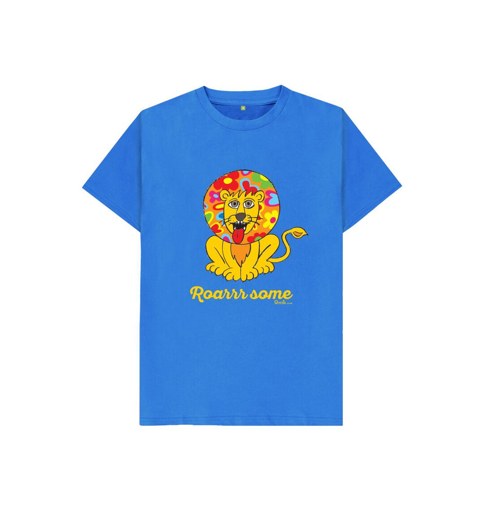 Bright Blue Roarrr some Lion Tshirt