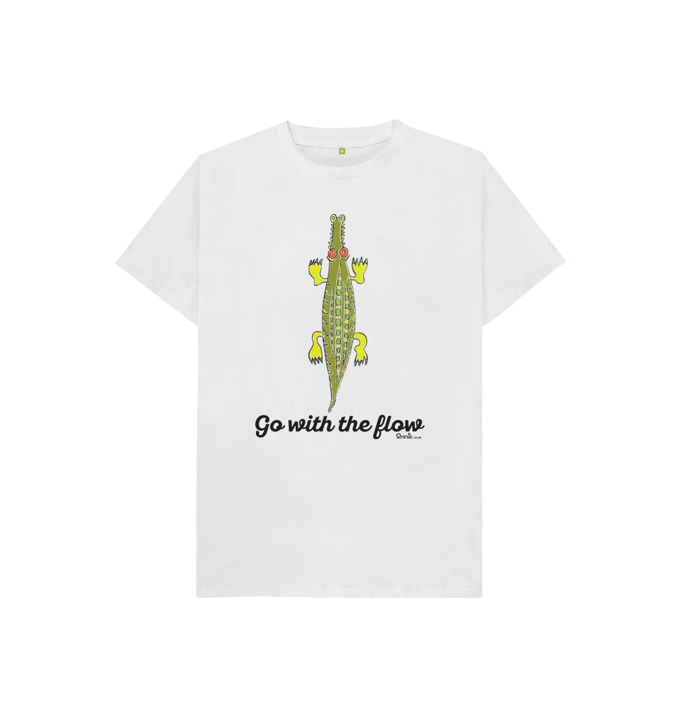 White Go with the Flow T-shirt