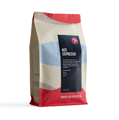 Ace Espresso / Medium Light Roast Whole Bean Coffee