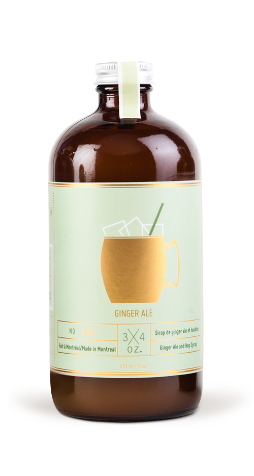 Ginger Ale Syrup (Fresh Ginger and Hops Syrup)
