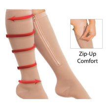 Load image into Gallery viewer, Zip up compression socks  - 1 pair