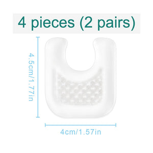 Reusable Gel Callus Pads for Feet, U-Shaped Callus Cushions, Set of 4