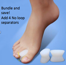 Load image into Gallery viewer, Double Loop Bunion Corrector With Attached Toe Separator - 4 Pack