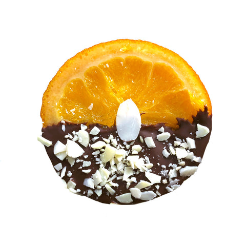 Almond Candied Orange Slices Dipped in Chocolate - Gift Box