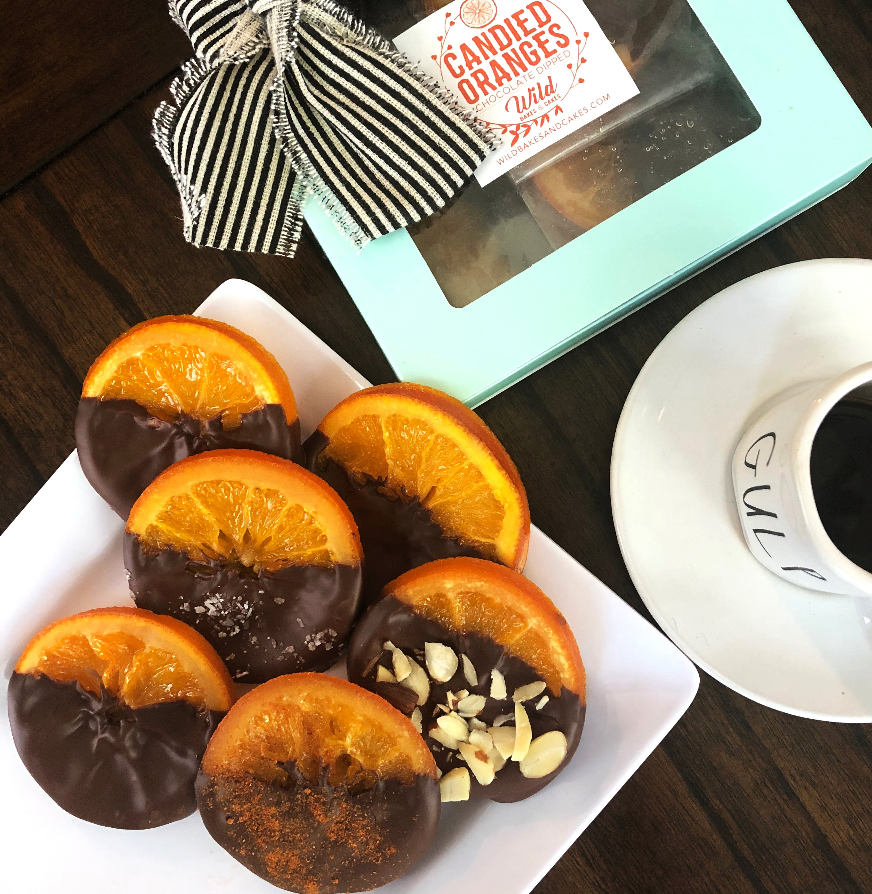 Assorted Gourmet Gift Box - Candied Orange Slices Dipped in Chocolate