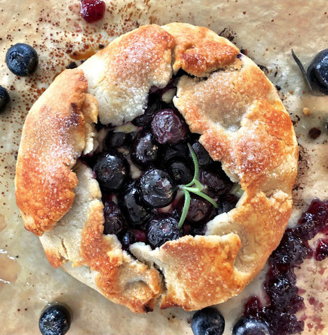 Blueberry Lemon Galette - French Pie