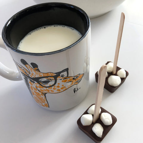 Marshmallow Hot Chocolate on a Stick - 4 Set