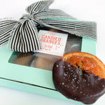 Load image into Gallery viewer, Gourmet Thank You Gift Box - Toffee & Chocolate Candied Oranges FREE SHIPPING