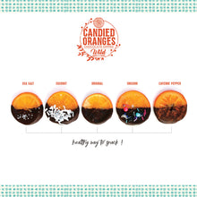 Load image into Gallery viewer, Gourmet Sea Salt Candied Orange Slices Dipped in Chocolate - Gift Box