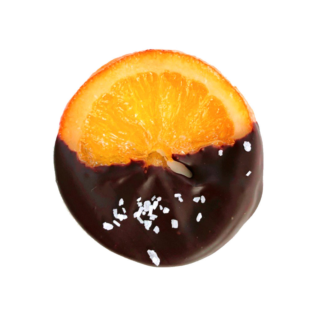 Gourmet Sea Salt Candied Orange Slices Dipped in Chocolate - Gift Box