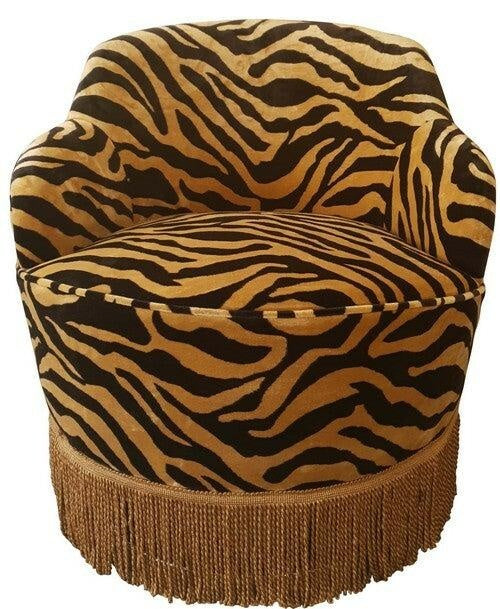 Swivel Chair with Fringe