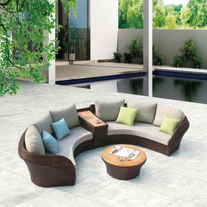 Evian Outdoor 4 Seater with Teak Divider Table