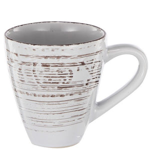 Rustic fare mug 14oz Set/4 - cream