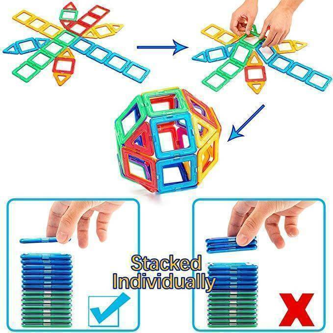 Magnetic Building Blocks Set - Toys & Gift - wallazay
