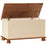 1010802 Copenhagen Blanket Box in Cream and Pine - Insta Living