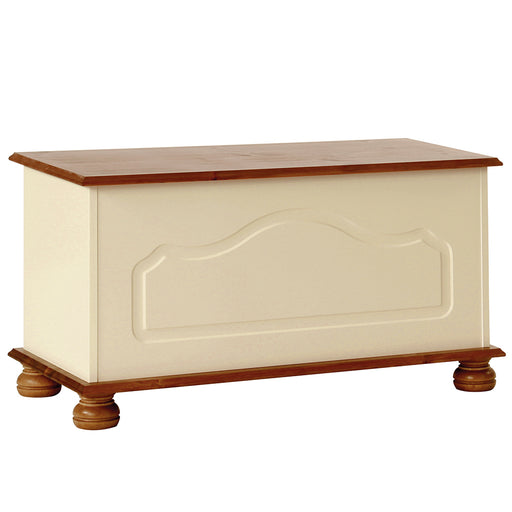 Copenhagen Blanket Box in Cream and Pine (1010802) - Insta Living