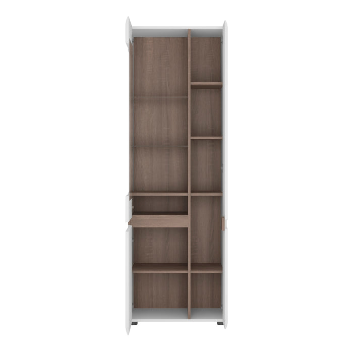 Chelsea Tall Glazed Narrow Display Unit (RHD) 4020144P - Insta Living