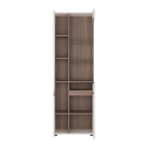 Chelsea Tall Glazed Narrow Display Unit (LHD) 4020244P - Insta Living