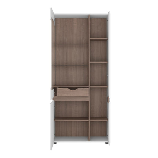 Chelsea Tall Glazed Wide Display Unit (RHD) 4020544 - Insta Living