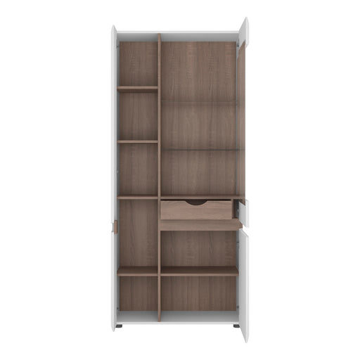 Chelsea Tall Glazed Wide Display Unit (LHD) 4020644P - Insta Living