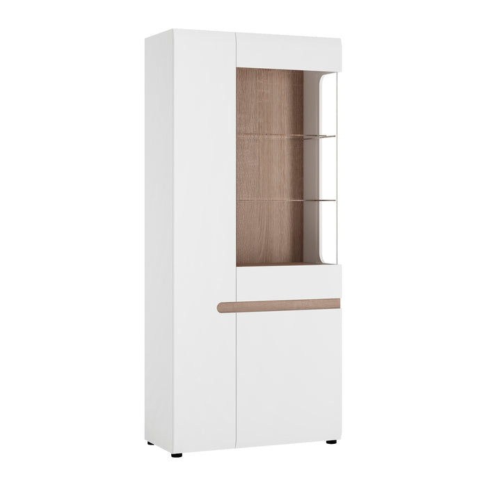 Chelsea Living Tall Glazed Wide Display Unit (LHD) 4020644P - Insta Living