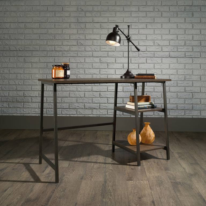 Teknik Industrial Style Bench Desk Smoked Oak (5423024) - Insta Living