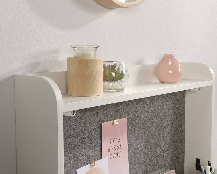 Teknik 5423547 Avon Oak and White Wall Desk - Insta Living