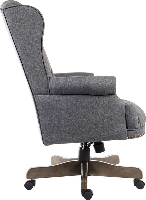Teknik Chairman Grey Fabric Executive Chair (6927) - Insta Living