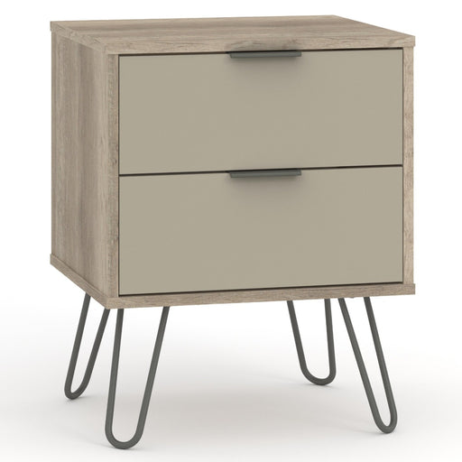 Core Products AGD510 Augusta Driftwood 2 Drawer Bedside Cabinet - Insta Living