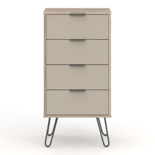 Core Products AGD517 Augusta Driftwood 4 Drawer Narrow Chest of Drawers - Insta Living