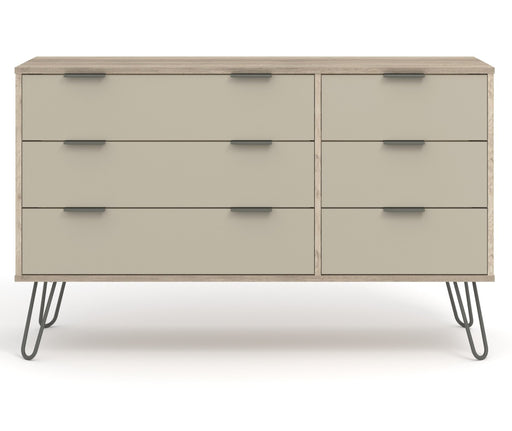 Core Products AGD533 Augusta Driftwood 3+3 Drawer Wide Chest of Drawers - Insta Living