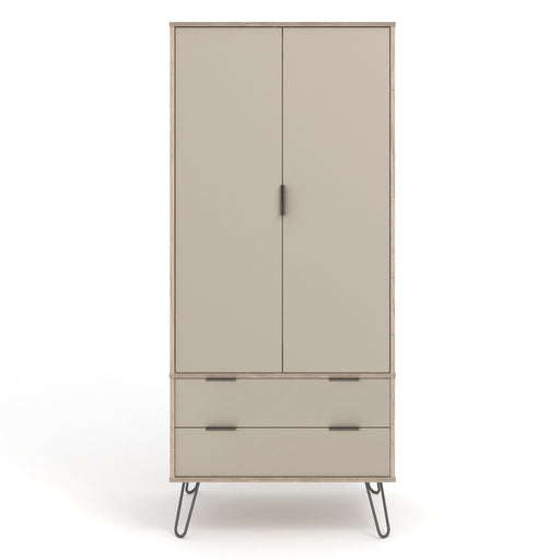 Core Products AGD582 Augusta Driftwood 2 Door, 2 Drawer Wardrobe - Insta Living
