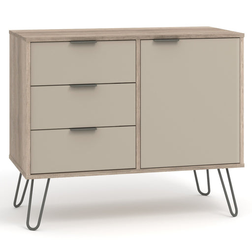 Core Products AGD915 Augusta Driftwood Small Sideboard with 1 Doors, 3 Drawers - Insta Living