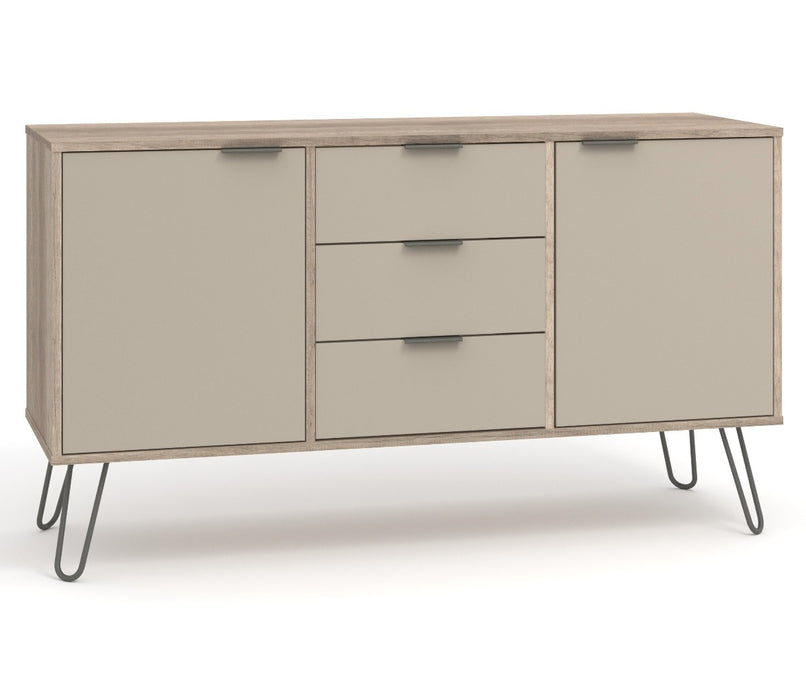 Augusta Driftwood Medium Sideboard with 2 Doors, 3 Drawers - Insta Living