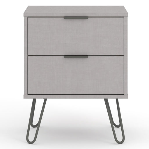 Core Products AGG510 Augusta Grey 2 Drawer Bedside Cabinet - Insta Living