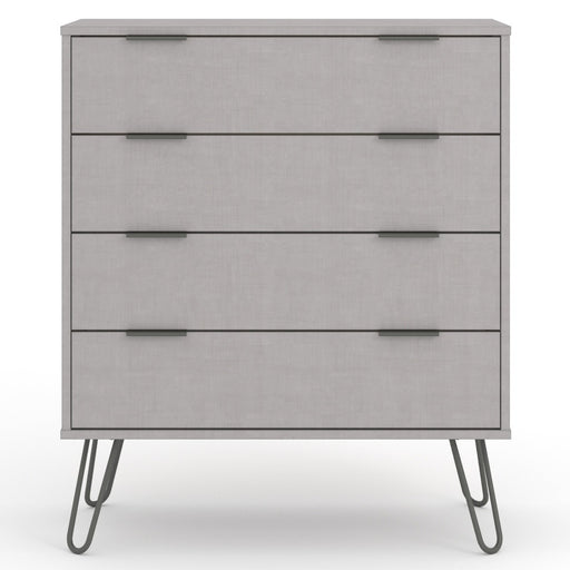 Core Products AGG514 Augusta Grey 4 Drawer Chest of Drawers - Insta Living