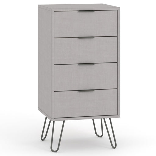 Core Products AGG517 Augusta Grey 4 Drawer Narrow Chest of Drawers - Insta Living